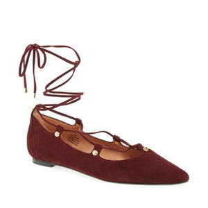 NEW!! Halogen Owen Pointy Toe Lace-Up Flats